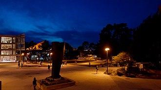 San Francisco State University - Campus quad at night