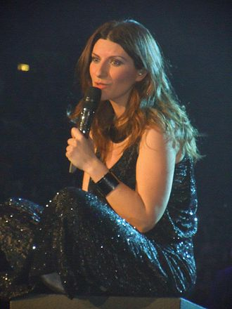 Laura Pausini - Pausini on 22 December 2011, performing in Milan during her Inedito World Tour