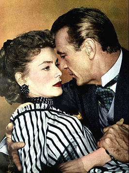 Lauren Bacall en Gary Cooper in Bright Leaf