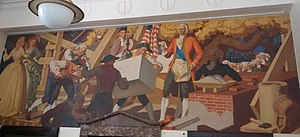 Murals of Chapel Hill - Laying the Cornerstone of Old East.