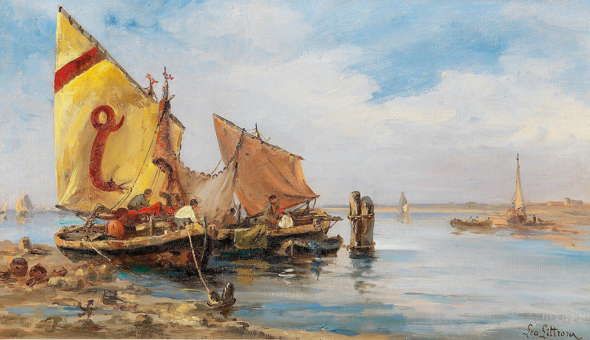 Леа фон Литтроу - Рыбаки в венецианском Lagoon.jpg