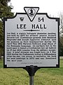 Lee Hall (Historical Highway Marker W-54) (3446750628).jpg