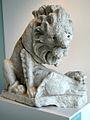 Leeuw met prooi (160-190 na Chr.), opgedregd uit de Maas ter plekke van de Romeinse brug van Maastricht.JPG