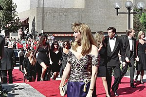 Leeza Gibbons - Gibbons at the 1990 Emmy Awards
