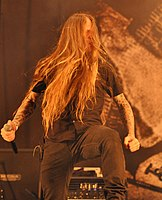 Legion of the Damned, Maurice Swinkels at Party.San Metal Open Air 2013 03.jpg