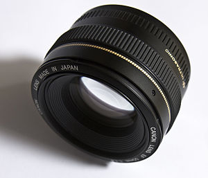 Objective (optics) - Image: Lens Canon EF 50mm f 1.4