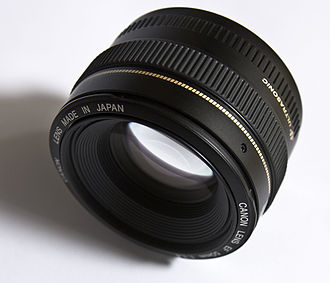 Objective (optics) - Image: Lens Canon EF 50mm f 1.4