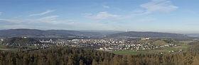 Ein Grossteil von Lenzburg, aufgenommen vom Esterliturm aus