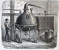 """Les merveilles de l'industrie, 1873 """"Alambic pour distiller le goudron par la vapeur dans les usines de produits chimiques"""". (4727203612).jpg"""