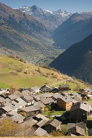 Vollèges - Levron village
