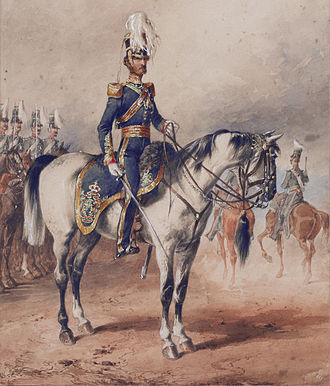 4th Queen's Own Hussars - Lieutenant-Colonel George Paget, 4th (Queen's Own) Light Dragoons, Dublin 1850, who commanded the regiment during the Crimean War (Michael Angelo Hayes, 1850)