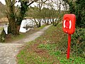 Lifebuoy by the Quoile - geograph.org.uk - 1183312.jpg
