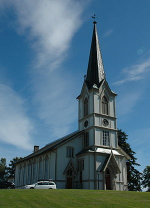 Lillesand - Lillesand Church in the centre of the town