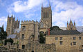 Lincoln Cathedral from Bishops Palace ruin TT.jpg