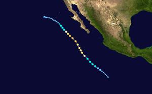 Hurricane Linda (2015) - Image: Linda 2015 track