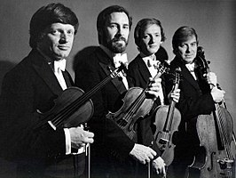 The Lindsays. From Left to Right: Peter Cropper, Ronald Birks, Robin Ireland and Bernard Gregor-Smith