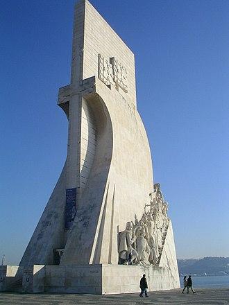 Padrão dos Descobrimentos - The entrance profile of the Padrão, as seen from the compass rose square