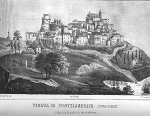 Pontelandolfo - Pontelandolfo in a lithograph, 1850