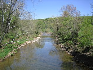 Little Cacapon River - The Little Cacapon viewed from Little Cacapon-Levels Road (CR 3/3) near Creekvale