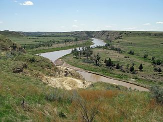 Little Missouri River im Theodore-Roosevelt-Nationalpark