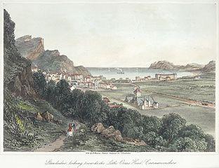 Llandudno, looking towards the Little Orms head, Caernarvonshire