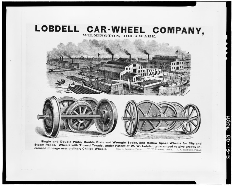 File:Lobdell Car Wheel Company, Christina Avenue, Wilmington, New Castle County, DE HAER DEL,2-WILM,35-5.tif