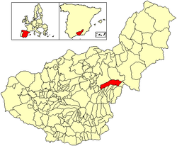 Location of Valle del Zalabí