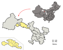 Location of Zhangye Prefecture within Gansu (China).png