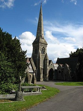 Locksbrook Cemetery - Image: Locksbrook Cemetery, Bath, chapel west side