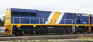 B unit - Australian XRB class locomotive.