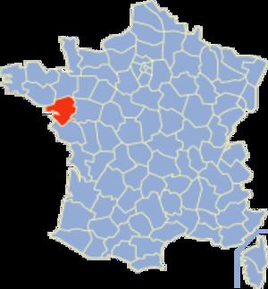 Communes of the Loire-Atlantique department - Image: Loire Atlantique Position