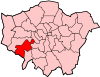 Location of the London Borough of Richmond upon Thames in Greater London
