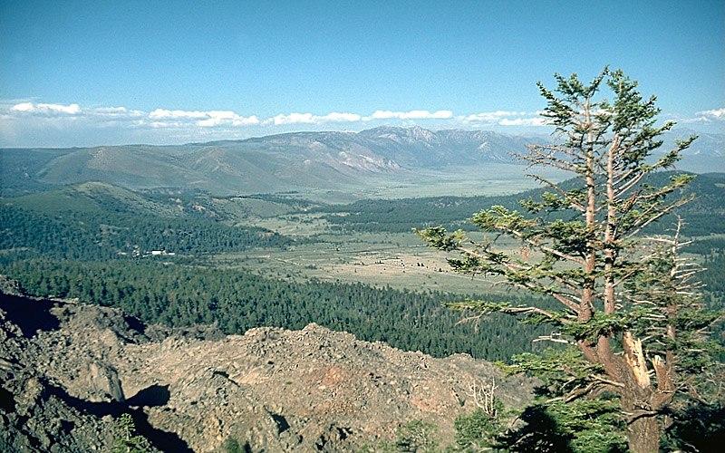 Long Valley caldera NE rim