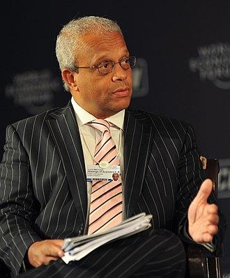 Michael Hastings, Baron Hastings of Scarisbrick - Hastings speaking at the World Economic Forum's India economic summit in 2009