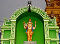 Lord Narasimha statue at Venkateswara Temple in Midhilapuri VUDA colony 02.JPG