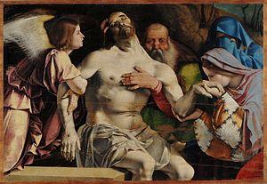 Recanati Polyptych - Detail of the Pietà.