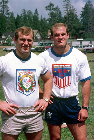 1984 Summer Olympics medal table - American twin brothers Lou and Ed Banach won gold medals in the wrestling events.
