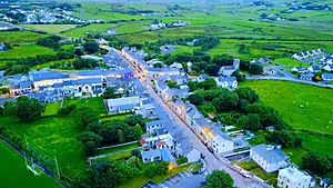 Louisburgh, County Mayo - Louisburgh in the evening light, July 2017