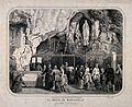 Lourdes, Haute Pyrénées; pilgrims gathered at the cave of Ma Wellcome V0012863.jpg