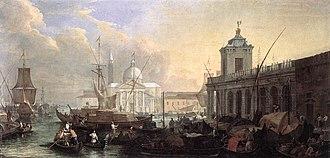 Luca Carlevarijs - Image: Luca Carlevarijs The Sea Custom House with San Giorgio Maggiore WGA4223