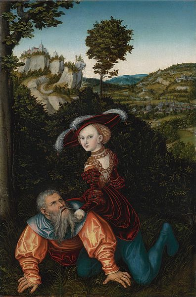 Phyllis and Aristotle, by Lucas Cranach the Elder, 1530.