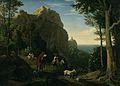 Ludwig Adrian Richter - Tal bei Amalfi mit Aussicht auf die Bucht von Salerno (1826).jpg