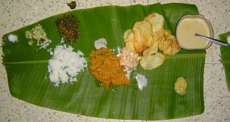 South Indian culture - The tradition of serving meals on plantain leaves endures in South India, especially at formal events.