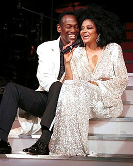 Luther Vandross en Diana Ross in 2000