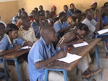 High school students in Kati, Mali
