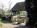 Lych Gate at St Margaret of Antioch, Chilmark - geograph.org.uk - 331880.jpg