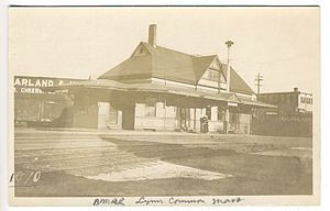 Saugus Branch Railroad - Lynn Common station on an early postcard