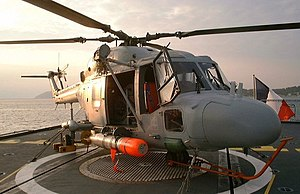 Mark 46 torpedo - A French Lynx. helicopter carrying a Mk 46 torpedo.