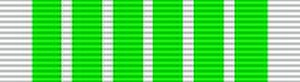 Ribbons of the French military and civil awards - Image: Médaille Contributions Indirectes