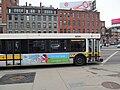 MBTA route 111 bus at Valenti Square, January 2013.jpg